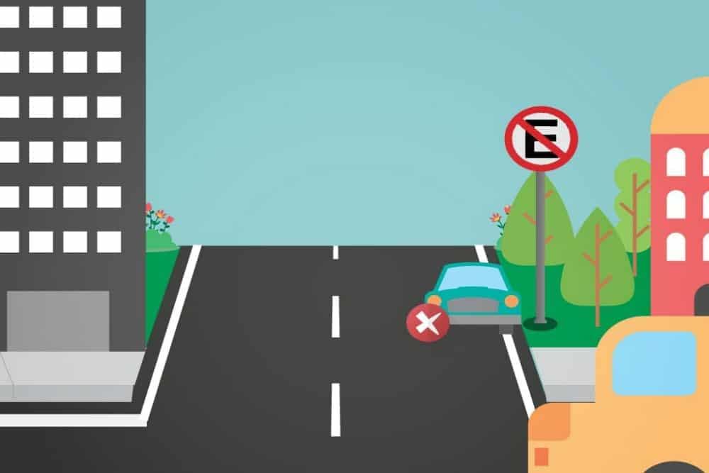 Estacionar em local proibido.