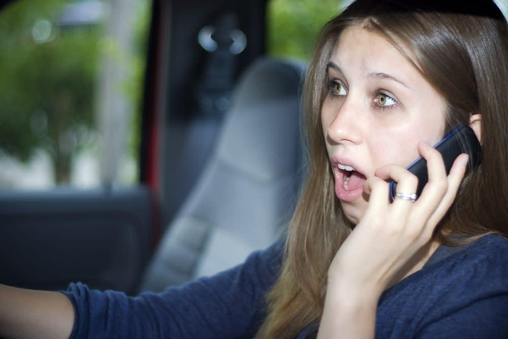 acidente com celular